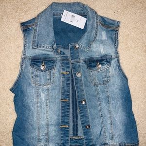 Brand NEW!! Fashion Nova Jean Vest